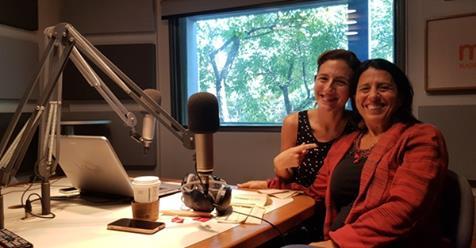 Andrea Churba en Radio Con Vos con Caro Amoroso en el programa Día de Tregua