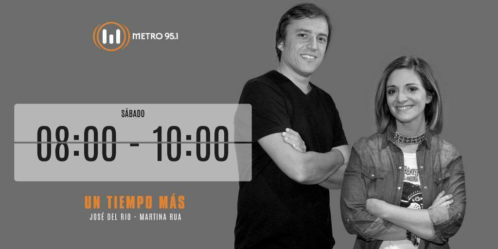Andrea Churba en Metro 95.1 con José del Rio y Martina Rua en el programa