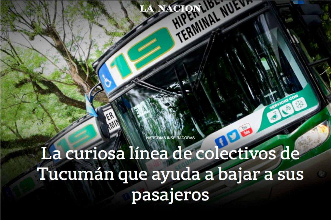 Churba en la Nación - La Curiosa línea de colectivos de Tucuman que ayuda a bajar a sus pasajeros
