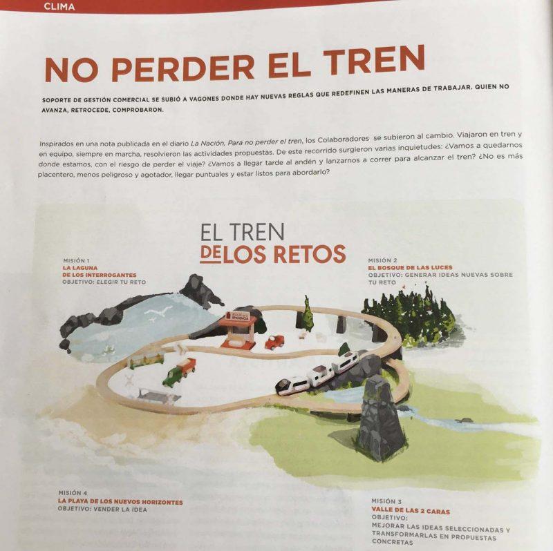 Revista Naranja No perder el tren inspirado  en la columna de Andrea Churba en la Nacion Para no perder el tren